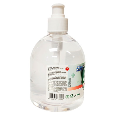 Cleace Hand Sanitizer with Pump, 75% Alcohol Content, 500 mL WITH PUMPS