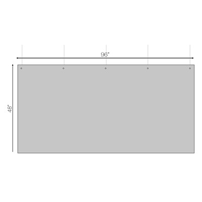 """Sterling Hanging Sneeze Guard Acrylic Partition, 96"""" x 48"""" 96""""W X 48""""H X 0.030"""" 3 HOLES AT TOP FOR HANGING"""