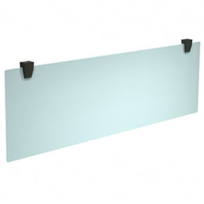 "HDL Innovations Hanging Plexiglass Modesty Panel, Frosted with Black Hardware, 44"" x 15"" BLACK MOUNTING HARDWARE 44''X0.25''X15'' PACK IN 2 BOX"