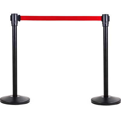 Zenith Safety Products Free-Standing Crowd Control Barrier Receiver Post and Base, Black