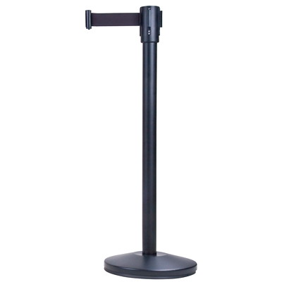 Zenith Safety Products Free-Standing Crowd Control Barrier, Black Frame and Tape, 7'