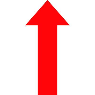 "Sterling Die-Cut Arrow Carpet Decal, Red, 8"" x 18""  QTY1-9"