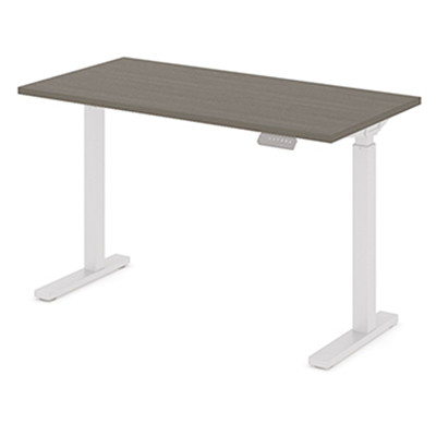 """Offices To Go Ionic Electric Height-Adjustable Table Top, Absolute Acajou, 46"""" x 23"""" x 1"""" HEIGHT ADJUSTABLE TABLE"""