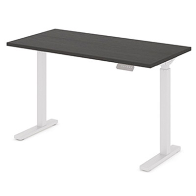 """Offices To Go Ionic Electric Height-Adjustable Table Top, Dark Espresso, 46"""" x 23"""" x 1"""" HEIGHT ADJUSTABLE TABLE"""
