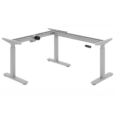 Offices To Go Ionic Electric Height-Adjustable 3-Leg Table Base, Silver HEIGHT ADJUSTABLE TABLE