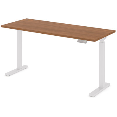 """Offices To Go Ionic Electric Height-Adjustable Table Top, Winter Cherry, 58"""" x 23"""" x 1"""" HEIGHT ADJUSTABLE TABLE"""