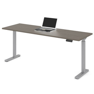"Offices to Go Ionic Sit-2-Stand Electric Height Adjustable Rectangular Table, Absolute Acajou, 70"" x 23"" x 28""-45 1/4"" HEIGHT ADJUSTABLE TABLE"
