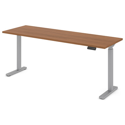 """Offices to Go Ionic Sit-2-Stand Electric Height Adjustable Rectangular Table, Absolute Acajou, 70"""" x 23"""" x 28""""-45 1/4"""" HEIGHT ADJUSTABLE TABLE"""
