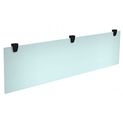 "HDL Innovations Hanging Plexiglass Modesty Panel, Frosted with Black Hardware, 62"" x 15"" BLACK MOUNTING HARDWARE 62''X0.25''X15'' PACK IN 2 BOX"