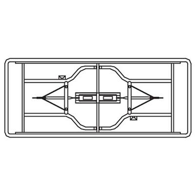 """HDL Toughlite Resin Folding Table, Light Grey Granite Finish, 60"""" x 30"""" x 29"""" GRANITE FINISH 200LB 60""""L X 30""""D X 29""""H"""