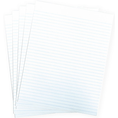 "Grand & Toy Economy Letter-Size Pads, White with Wide Rule, 8 1/2"" x 11"", 5/PK BOTH SIDES 96 SHEETS ECONOMY"