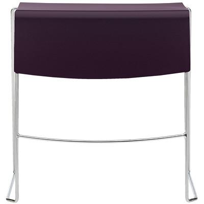 TABLES DUET  TABLE EMPILABLE L29 X P25 X H28  AUBERGINE