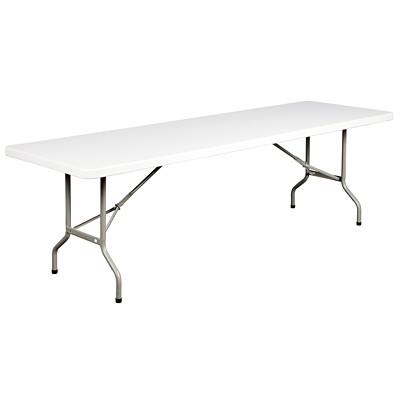 """HDL Toughlite Resin Folding Table, Light Grey Granite Finish, 96"""" x 30"""" x 29"""" GRANITE FINISH 300LB 96""""L X 30""""D X 29""""H"""