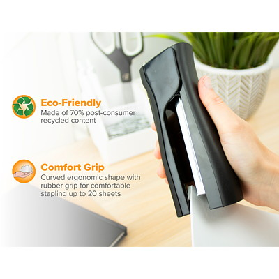 Bostitch Dynamo Stand-Up Stapler with Integrated Staple Remover and Staple Storage BUILT-IN PENCIL SHARPENER 20-SHEET CAPACITY  BLACK