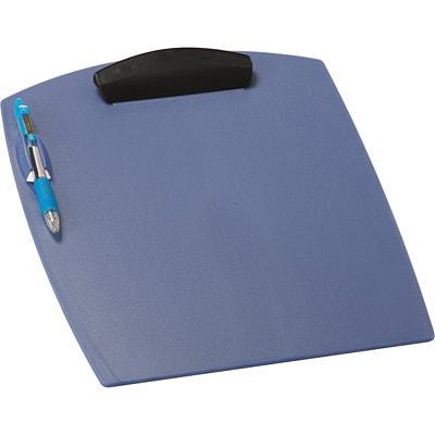 STOREX CLIPBOARD W/PEN HOLDER BLUE  LETTER SIZE