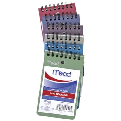 Mead Poly Memo Book 100SHTS ASST'D COVERS FUCHSIA BLUE BORDEAUX GREEN AQUA GRAY