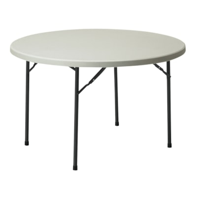 "Global Lite-Lift II Round Folding Table 48"" ROUND  OYSTER GLOBAL"