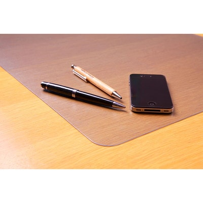"""FloorTex Ecotex Desk Pad, Clear, 24"""" x 19"""" RECOMMENDED FOR NATURAL WOOD 19"""" X 24"""""""