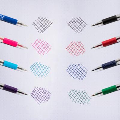 Pentel R.S.V.P. Ballpoint Pen, Blue, Medium 1.0 mm RUBBER GRIP REFILLABLE STAINLESS STEEL TIP