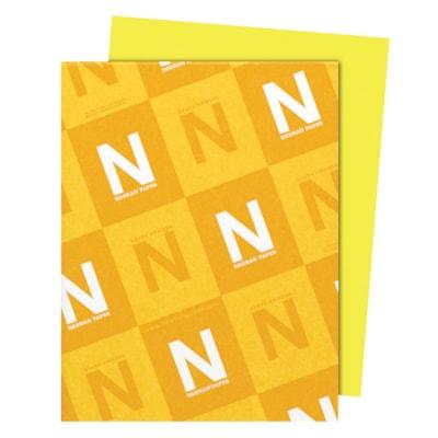 Papier Astrobrights Neenah, citron Lift-off, format lettre, certifié FSC et Green Seal, 24 lb, rame FSC LASER JET D'ENCRE GARANTIE LIFT-OFF CITRON