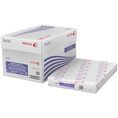 Papier d'impression numérique Bold Xerox, certifié FSC, 24 lb, 11 po x 17 po, rame 24LB  BRILLANCE 98  500/PQT XEROX