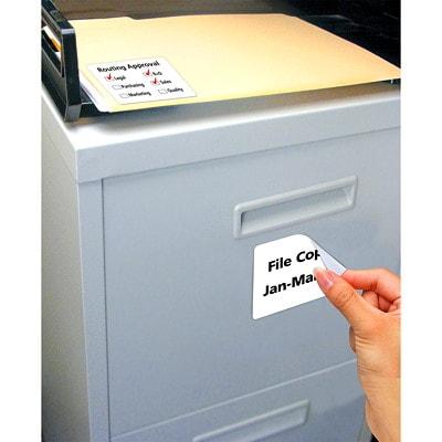 Étiquettes d'identification blanches amovibles pour imprimantes laser/jet d'encre Avery 4X3-1/3PO AMOVIBLES BLANCHES 6 PAR FEUILLE 60/PQT AVERY