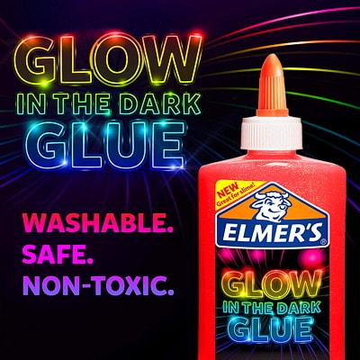 Elmer's Glow in the Dark Glue, Pink, 147 mL GLOW IN THE DARK