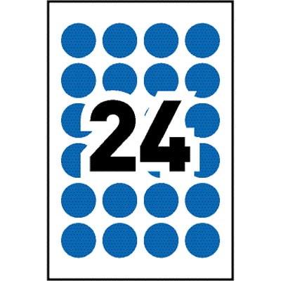 """PAPER LABEL CC RND BE 24U10S  """" ROUND 240/PK  BLUE LASER/INKJET"""