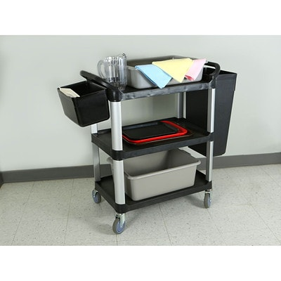 Globe Commercial Products Large Utility Cart ACCOMODATES UP TO 200LBS