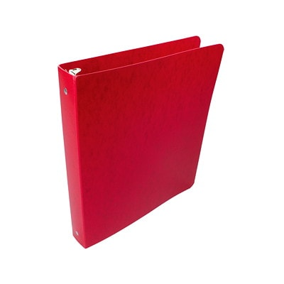 """Wilson Jones Recycled Presstex Binder, Round-Ring, 1/2"""", Executive Red, Letter-size (8 1/2"""" x 11"""") PRESSTEX 50% RECYCLED W/ 30% POST CONSUMER 100 SHT CAPACITY"""