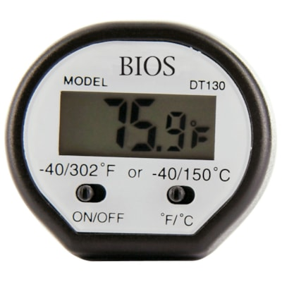 """BIOS Digital Pocket Food Thermometer, Black DURABLE STAINLESS 5"""" STEM ACCURATE INSTANT READ"""