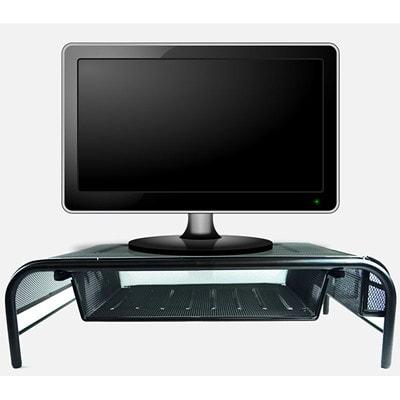 "Winnable Mesh Monitor/Printer Stand, Black 20"" X 11.75"" X 5.75"""