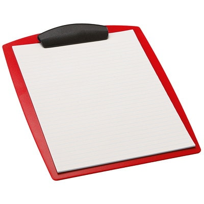 STOREX HARD POLY CLIPBOARD RED LETTER