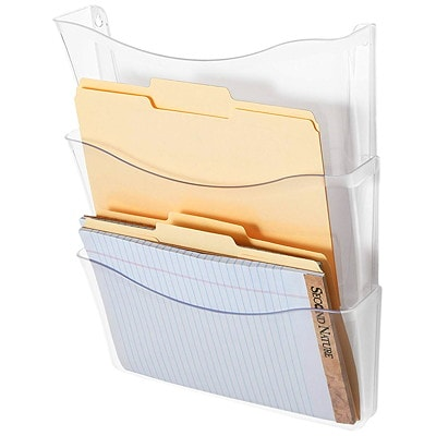 Rubbermaid Unbreakable Wall Files, Clear, Letter Size, 3/PK CLR 3PK