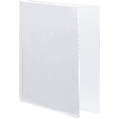 """Wilson Jones CleanView Letter-size (8 1/2"""" x 11"""") 1"""" White Round-Ring Flex Poly View Binder 3 RING INSIDE POCKET W/BUSINES CARD SLOT"""