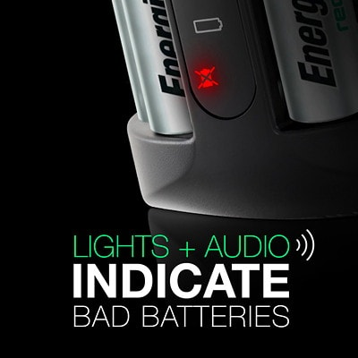 """Energizer Pro Charger with 4 """"AA"""" NiMH Rechargeable Batteries INDICATES CHARGING STAGES AA/AAA CHARGER"""