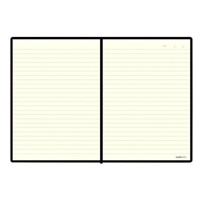 "Carnet Edge 8 1/4 po x 5 13/16 po Noir Letts 192 RULED PAGES  CREAM PAPER 8 1/4"" X 5 13/16"""