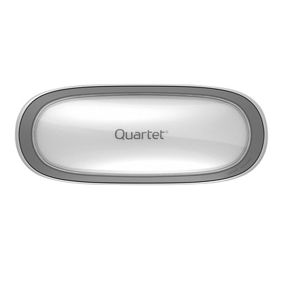 Quartet® Max Clean Eraser with Magnetic Caddy, Silver DUAL MATERIAL W/MAGNETIC CADDY QUARTET