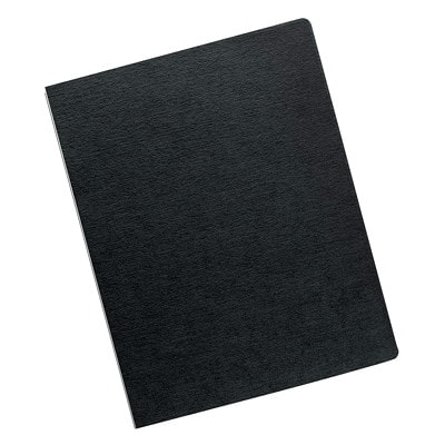 Fellowes Expressions Linen Texture Unpunched Binding Covers, Black, Letter Size, 200/PK OVERSIZED LETTER BLACK; 200 PACK