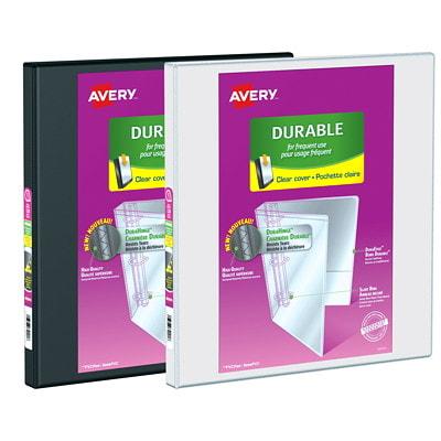 """Avery 1/2"""" Durable View Slant-D Ring Presentation Binder, White, Letter Size   """" SLANT D RINGS WHITE"""