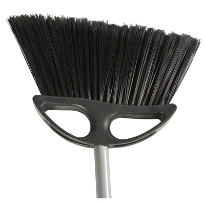 """Globe Commercial Products 10"""" Lobby Angle Broom With 36"""" Handle ANG. BRISLES REACH INTO CORNER WORKS W/ LOBBY DUSTPAN #3031-0"""