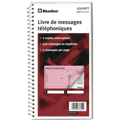 Blueline Phone Message Book 10.75 X 5.75