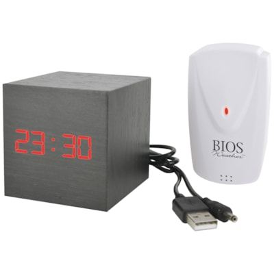 BIOS Living Weather Cube Thermometer 12/24 HOUR CLOCK