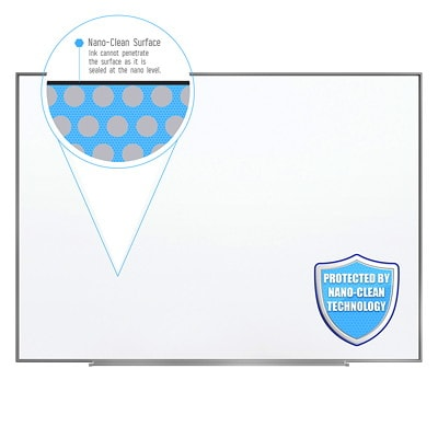 "Quartet Fusion Nano-Clean Dry-Erase Whiteboard, 72"" x 48"" NANOCLEAN  DRY ERASE ALUMINUM FRAME"