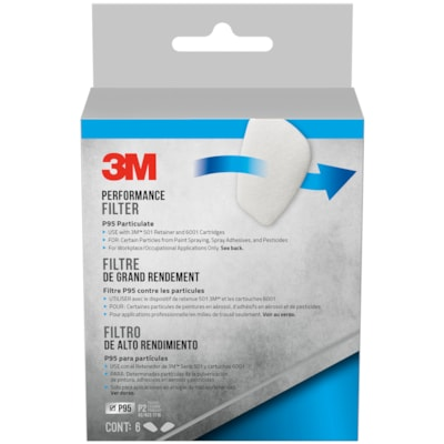 3M Performance P95 Particulate Filters, 6/PK 5P71P6-DC 6 PACK