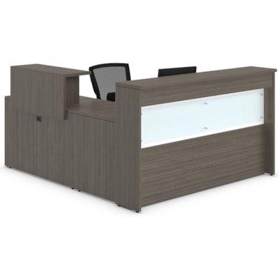 Offices to Go Ionic Reception Suite ABSOLUTE ACAJOU FINISH