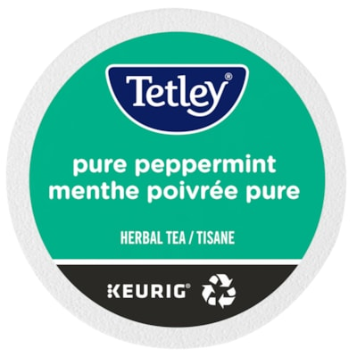 Tetley Tea Single-Serve K-Cup Pods, Pure Peppermint Herbal Tea, Box of 24 24/BX  KEURIG