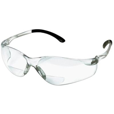 Denec SenTec Magnifier Safety Glasses, Bifocal +2.5, With Clear Lens LENS  RUBBERIZED TEMPLE TIPS CSA