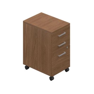 Caisson mobile à 2 tiroirs de rangement et 1 de classement Ionic Offices to Go, cerisier d'hiver CERISIER D'HIVER