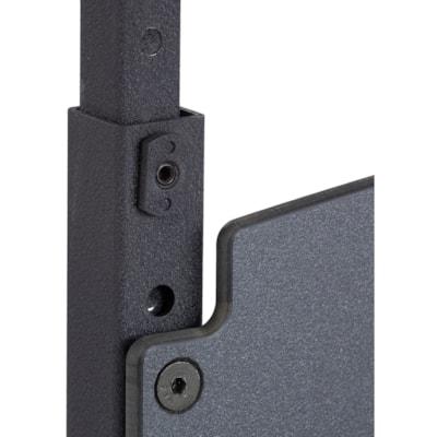 Safco AlphaBetter Adjustable-Height Sit/Stand Desk, Grey/Black GREY/BLACK
